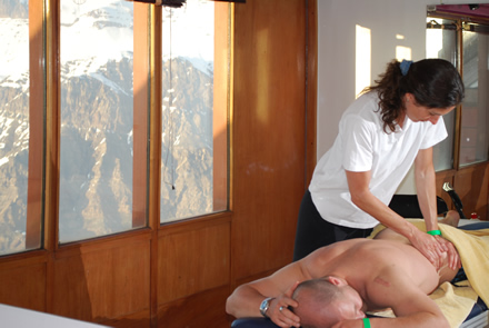 Sports Massage Therapy client Craig Branch.- Olympic Skiing Competitor
